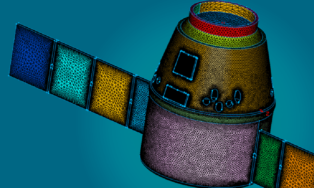 Dragon Space Capsule, From The ESP Example Case Gallery. Meshing Time Reduction