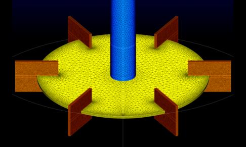 Pointwise Surface Mesh On A Rushton Turbine