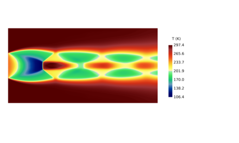 Velocity Correction - Compressible Ladenburg Jet Temperature Contours