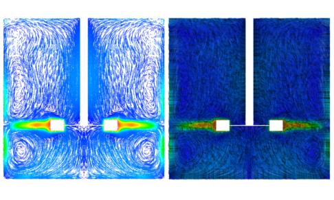 Next Vertical Cut Plane Showing Velocity Vectors Coloured By Magnitude