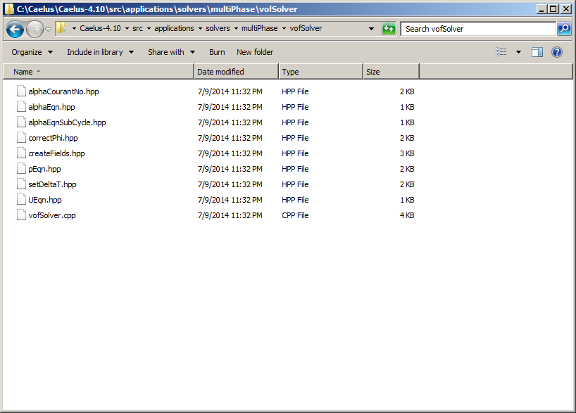 A new directory with the renamed source files created in Windows Explorer.